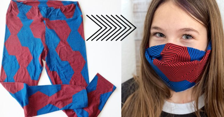 Easy No Sew Mask from Leggings