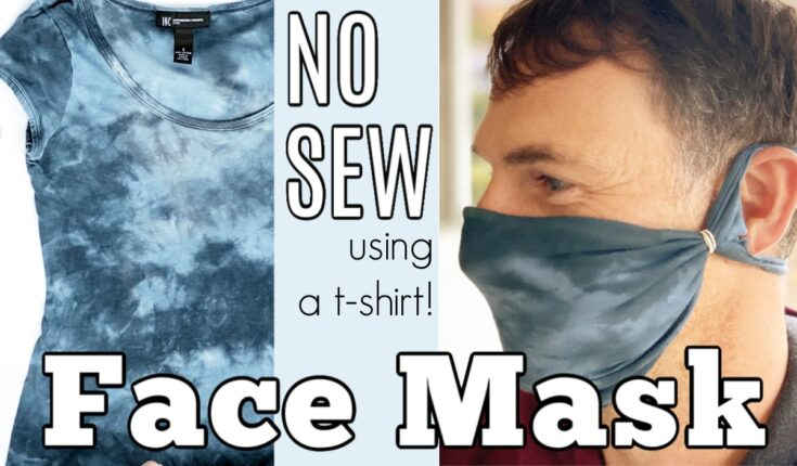No Sew Cloth Face Mask from a T-shirt