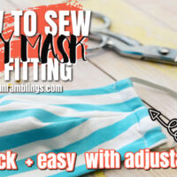 How to Sew a Fabric Face Mask Free Pattern